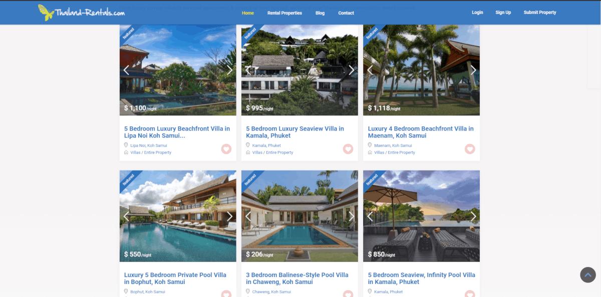 Thailand Rentals Villa Listings